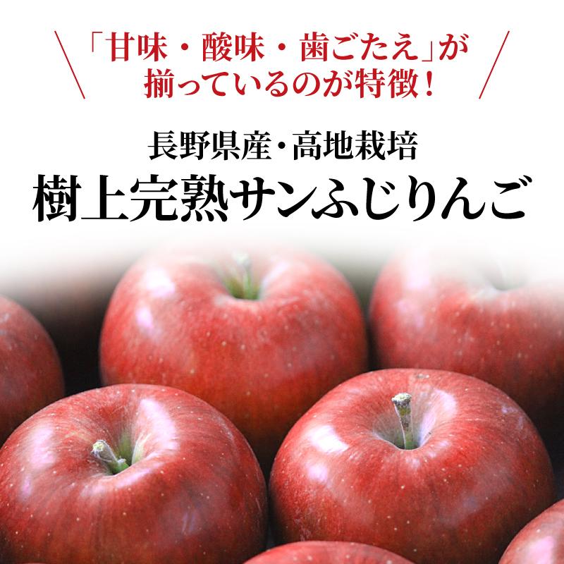 長野県産りんご むぎわらぼうし 通販 お取り寄せ 産地直送 信州産 サンふじ